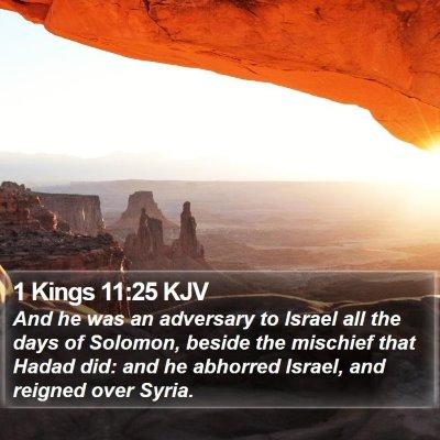 1 Kings 11:25 KJV Bible Verse Image