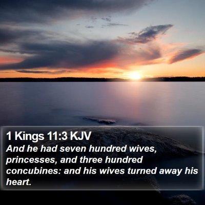 1 Kings 11:3 KJV Bible Verse Image