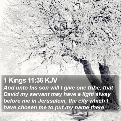 1 Kings 11:36 KJV Bible Verse Image