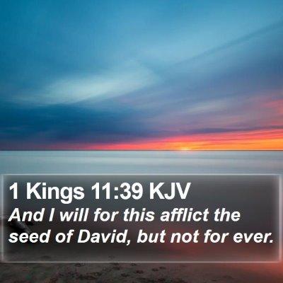 1 Kings 11:39 KJV Bible Verse Image