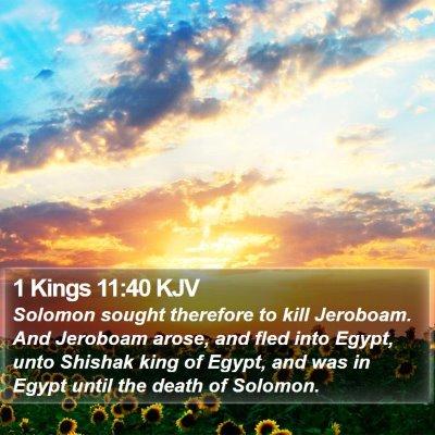 1 Kings 11:40 KJV Bible Verse Image