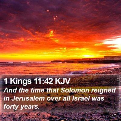 1 Kings 11:42 KJV Bible Verse Image