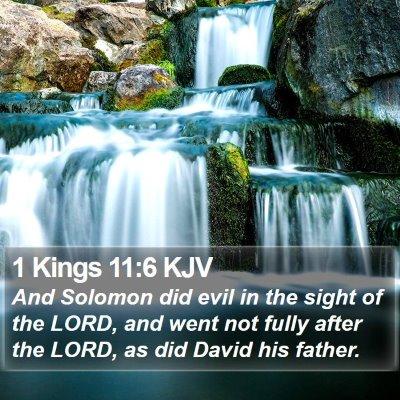 1 Kings 11:6 KJV Bible Verse Image