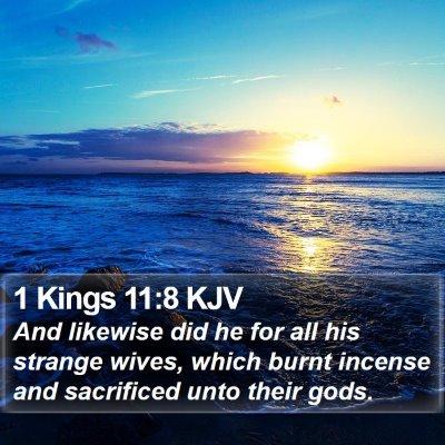 1 Kings 11:8 KJV Bible Verse Image