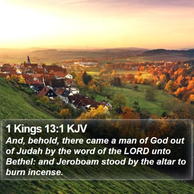 1 Kings 13:1 KJV Bible Verse Image