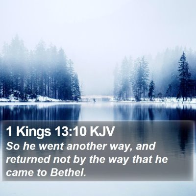 1 Kings 13:10 KJV Bible Verse Image