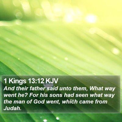 1 Kings 13:12 KJV Bible Verse Image