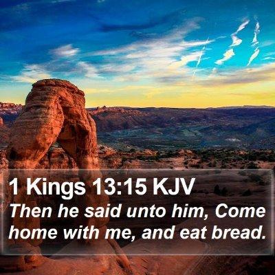 1 Kings 13:15 KJV Bible Verse Image