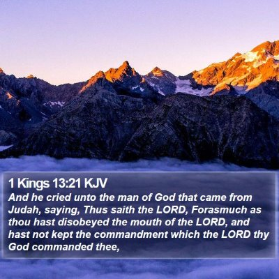 1 Kings 13:21 KJV Bible Verse Image