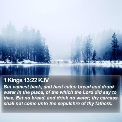 1 Kings 13:22 KJV Bible Verse Image