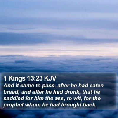 1 Kings 13:23 KJV Bible Verse Image