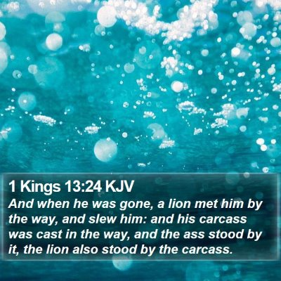 1 Kings 13:24 KJV Bible Verse Image
