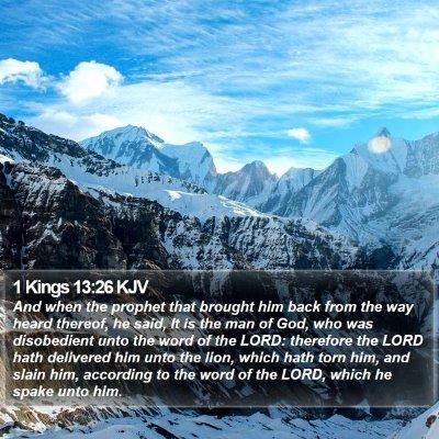 1 Kings 13:26 KJV Bible Verse Image