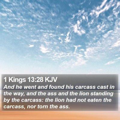 1 Kings 13:28 KJV Bible Verse Image