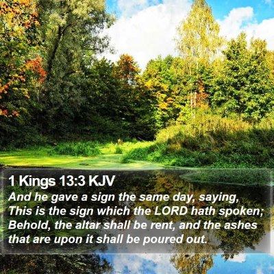 1 Kings 13:3 KJV Bible Verse Image