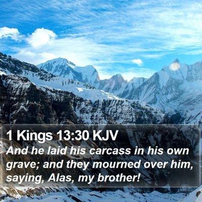 1 Kings 13:30 KJV Bible Verse Image
