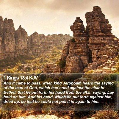 1 Kings 13:4 KJV Bible Verse Image