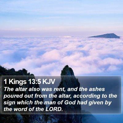 1 Kings 13:5 KJV Bible Verse Image