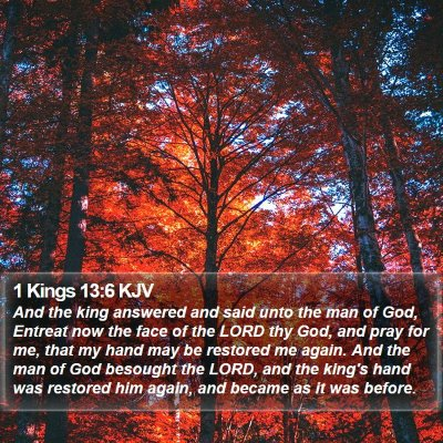 1 Kings 13:6 KJV Bible Verse Image