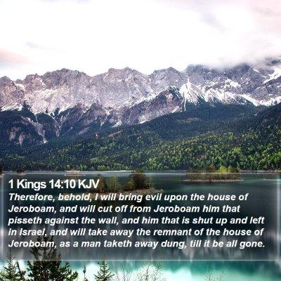 1 Kings 14:10 KJV Bible Verse Image