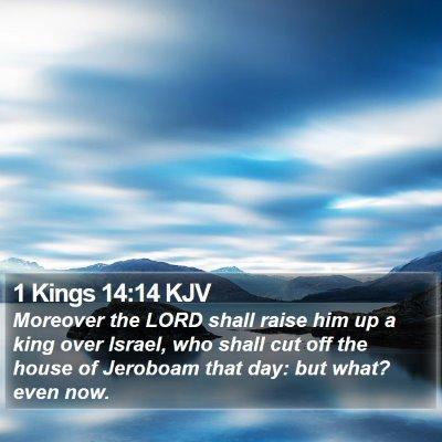 1 Kings 14:14 KJV Bible Verse Image