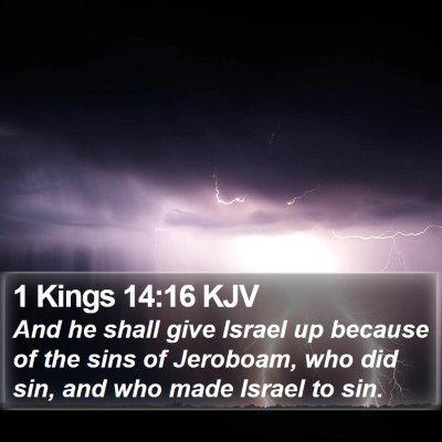 1 Kings 14:16 KJV Bible Verse Image