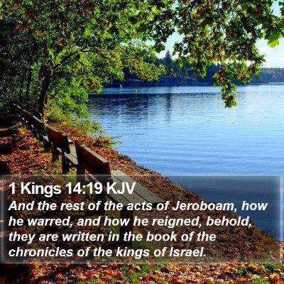 1 Kings 14:19 KJV Bible Verse Image