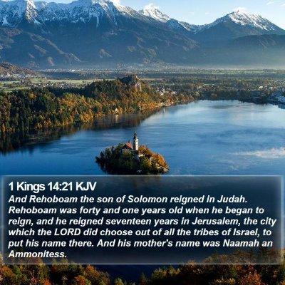 1 Kings 14:21 KJV Bible Verse Image