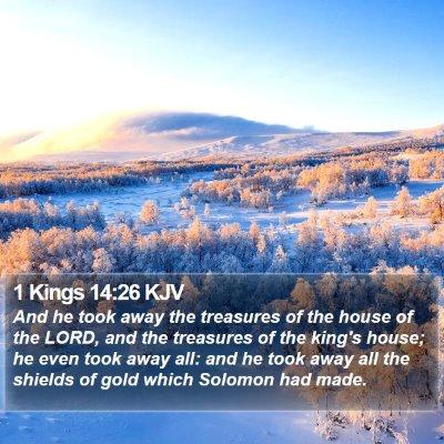 1 Kings 14:26 KJV Bible Verse Image