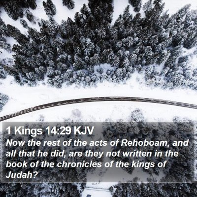 1 Kings 14:29 KJV Bible Verse Image