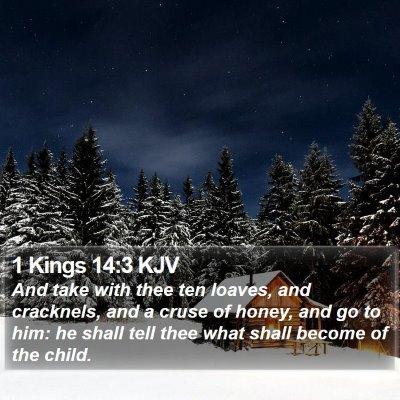 1 Kings 14:3 KJV Bible Verse Image