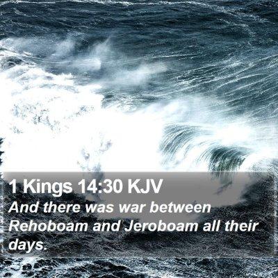 1 Kings 14:30 KJV Bible Verse Image