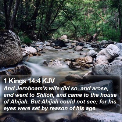 1 Kings 14:4 KJV Bible Verse Image