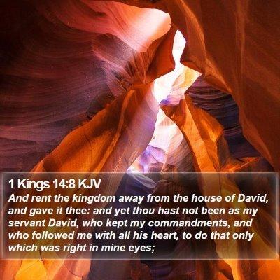 1 Kings 14:8 KJV Bible Verse Image