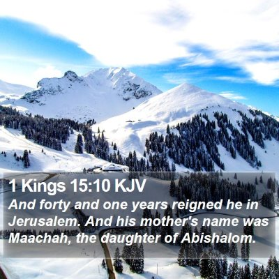 1 Kings 15:10 KJV Bible Verse Image