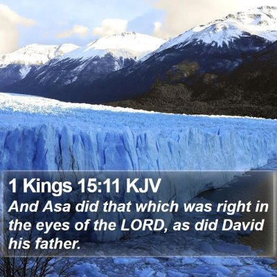 1 Kings 15:11 KJV Bible Verse Image