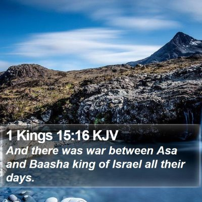 1 Kings 15:16 KJV Bible Verse Image