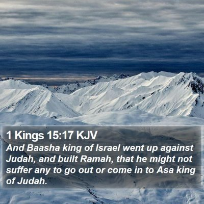 1 Kings 15:17 KJV Bible Verse Image