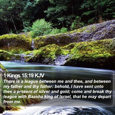 1 Kings 15:19 KJV Bible Verse Image