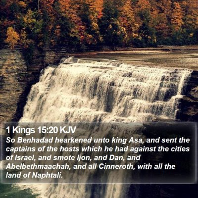1 Kings 15:20 KJV Bible Verse Image