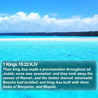 1 Kings 15:22 KJV Bible Verse Image