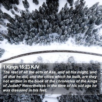 1 Kings 15:23 KJV Bible Verse Image