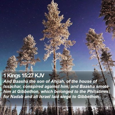 1 Kings 15:27 KJV Bible Verse Image
