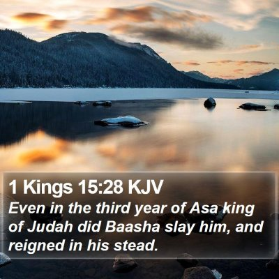 1 Kings 15:28 KJV Bible Verse Image