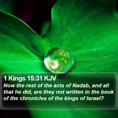 1 Kings 15:31 KJV Bible Verse Image