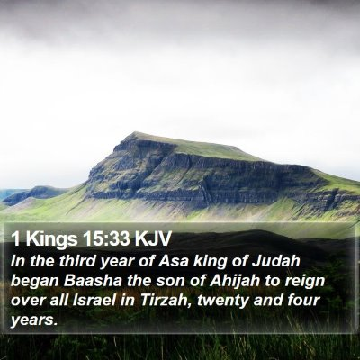 1 Kings 15:33 KJV Bible Verse Image