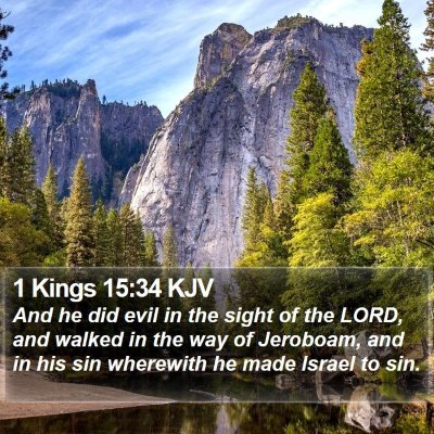1 Kings 15:34 KJV Bible Verse Image