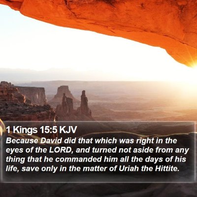 1 Kings 15:5 KJV Bible Verse Image