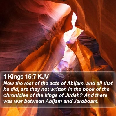 1 Kings 15:7 KJV Bible Verse Image