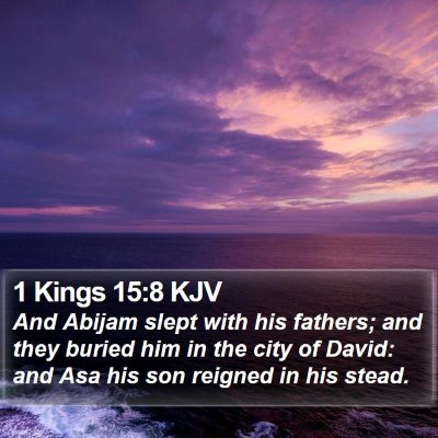 1 Kings 15:8 KJV Bible Verse Image